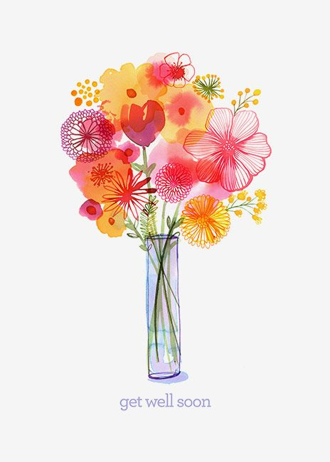 Margaret Berg Art Handpicked Get Well Bouquet Flower