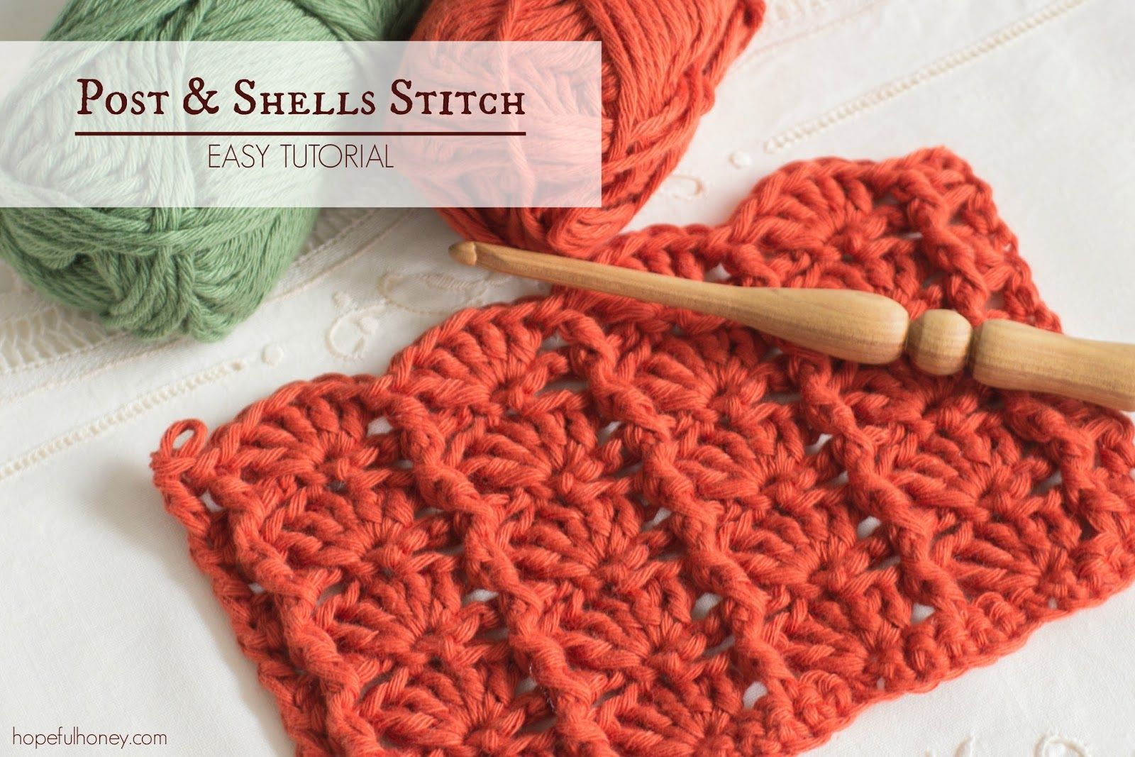 How To: Crochet The Post and Shells Stitch - Easy Tutorial | Häkeln ...