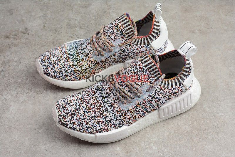 hot sale online 0b4ed 46c59 Adidas NMD R1 Primeknit Color Static Rainbow Multi BW1126