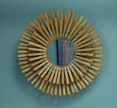 Espejo con pinzas para colgar ropa for the home for Espejos para colgar