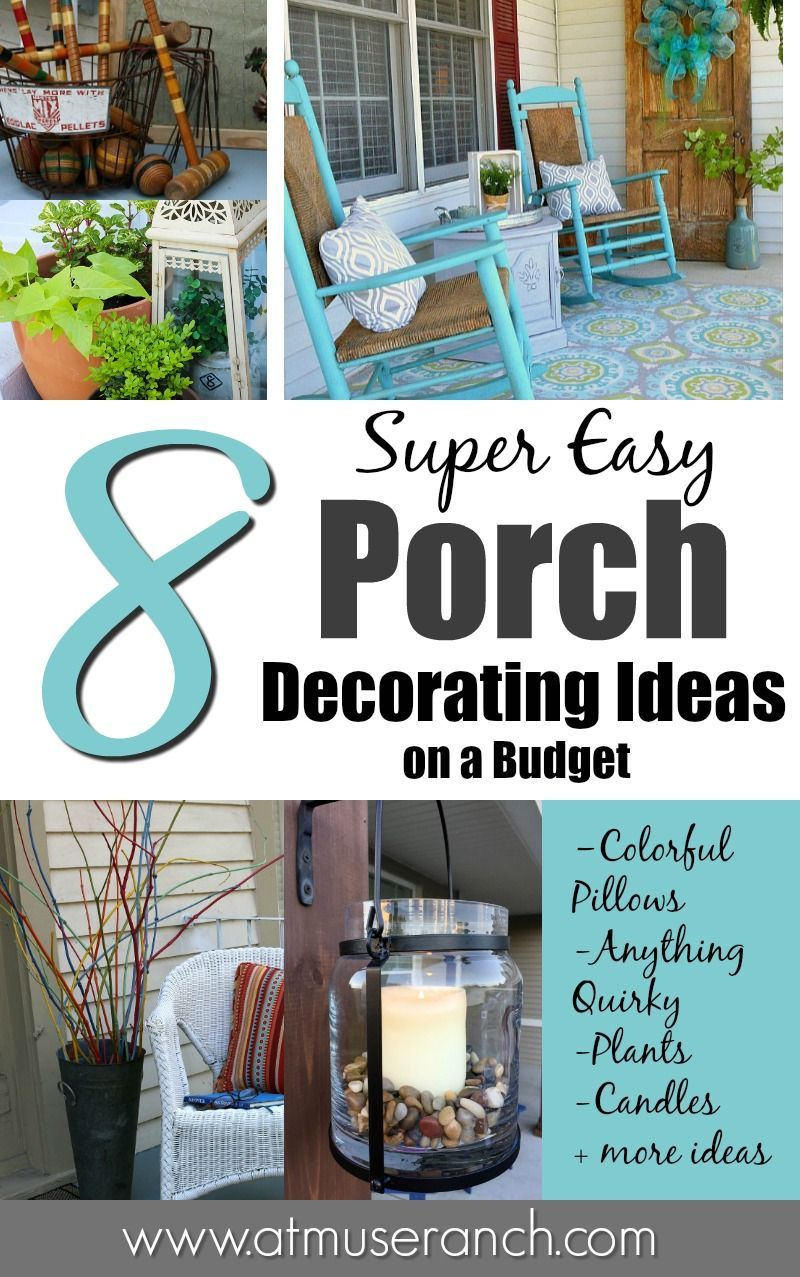 super easy porch decorating ideas on a budget