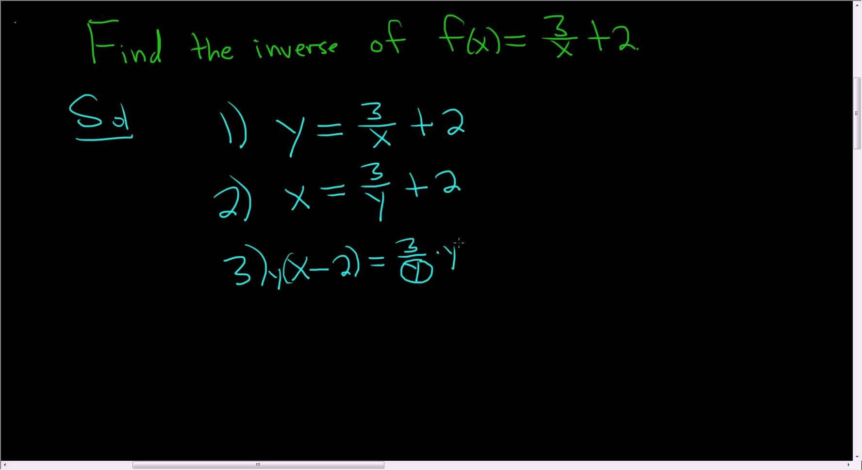Finding The Inverse Of The Rational Function F X 3 X