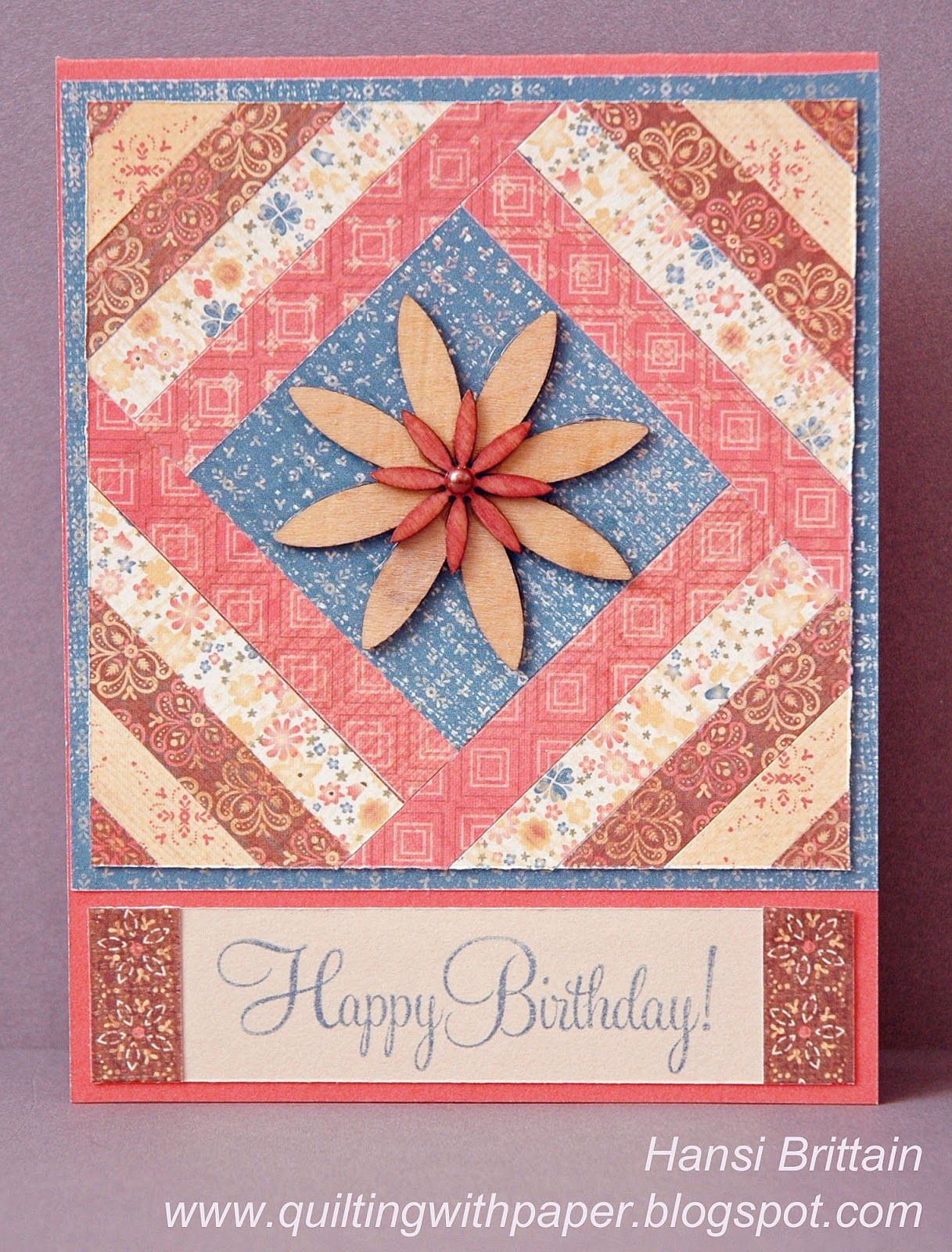 Quilting With Paper: A Paper Quilt for Spring  Patchwork cards