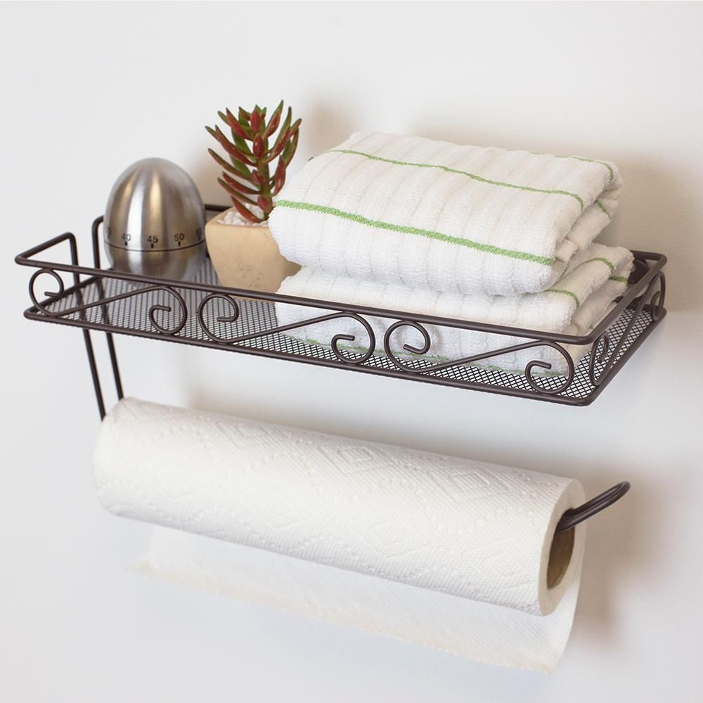 Home Basics Scroll Collection Wall Mount Bronze Paper Towel In 2020 Towel Holder Paper Towel Holder Kitchen Paper Towel Holder