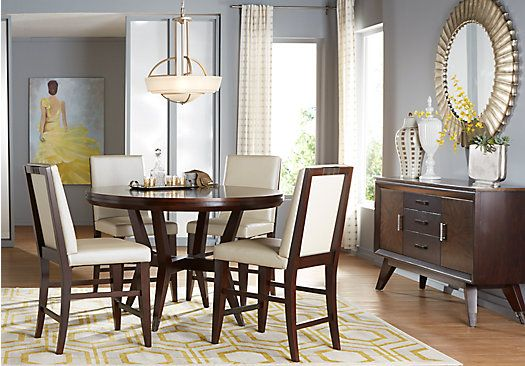 Shop For A Cindy Crawford Home Philadelphia 5 Pc Counter Height Dining Room At Rooms To Go Find Sets That Will Look Great In Your And