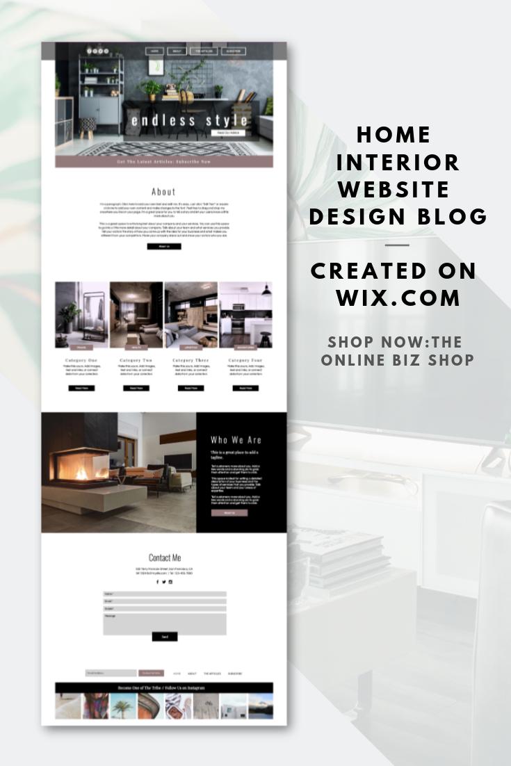 Scape Design Website Design Blog Wix Website Template Premade