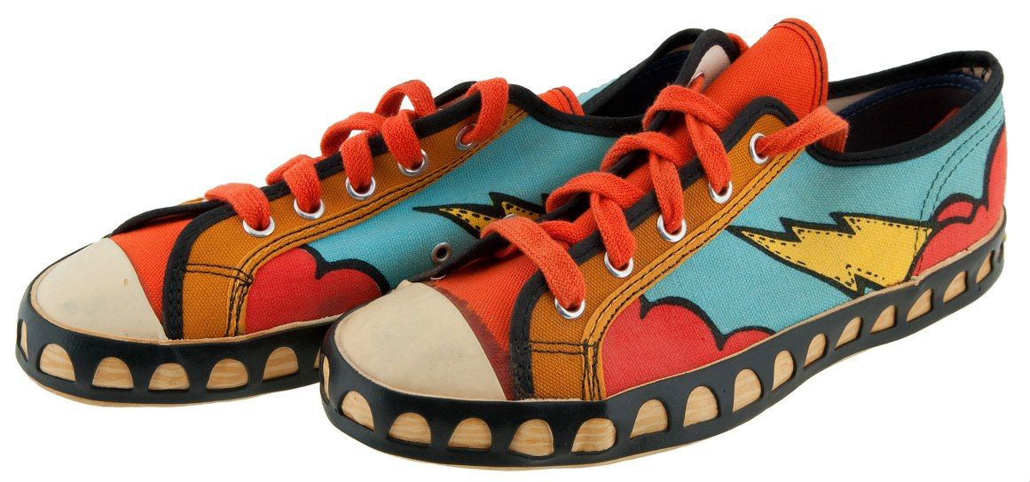 Peter Max Sneakers. I had a pair of these in the 70's