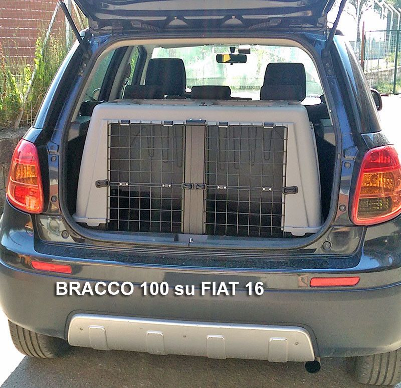 Trasportino Per Cani Doppio Auto Bracco Su Fiat Sedici Trasportini