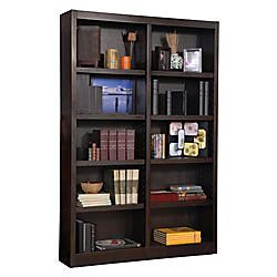 Concepts In Wood Double Wide Bookcase 10 Shelves 72 H X 48 W X 10