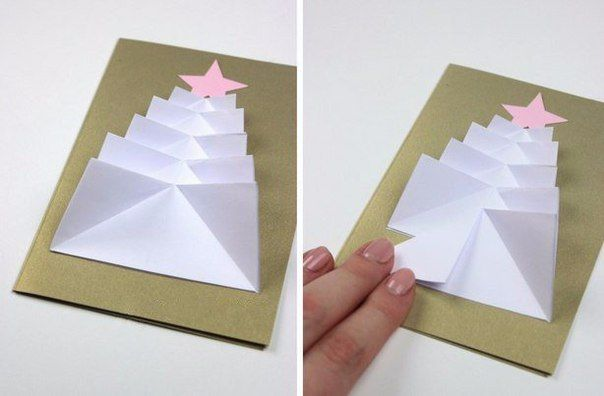 Tarjetas Navidad Arbol Navidad Manualidades Navidenas - Manualidades-de-tarjetas-de-navidad