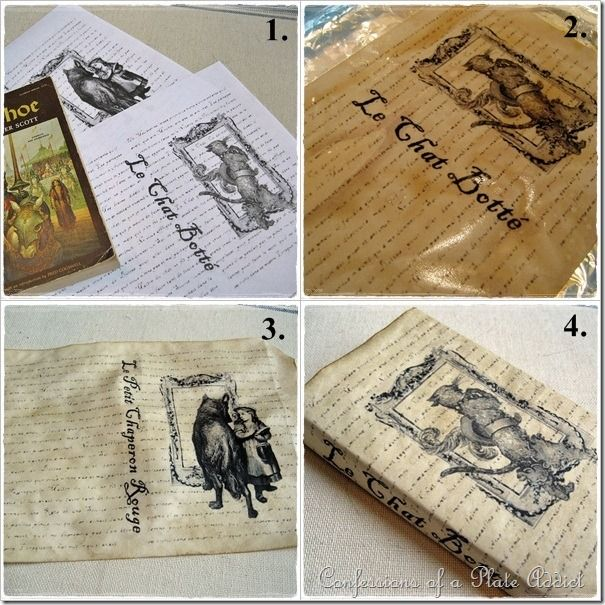 Retro Book Cover Tutorial : Vintage french fairy tale book covers craft pinterest