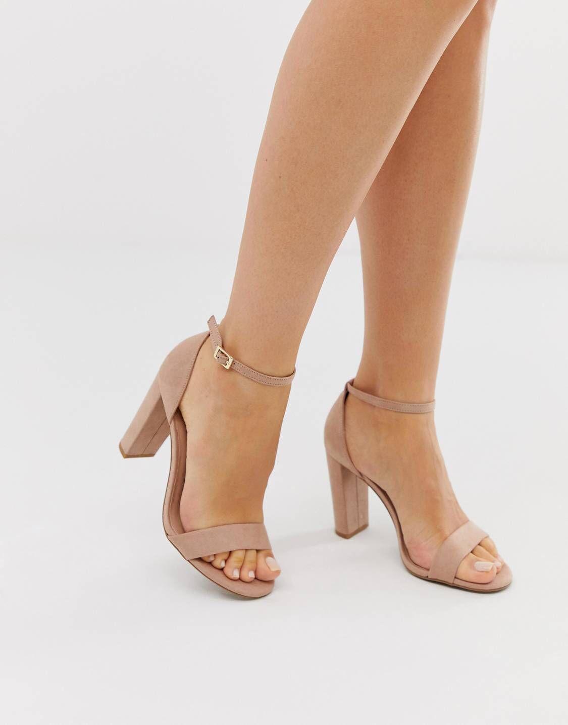 Tan block heel sandals, Tan block heels