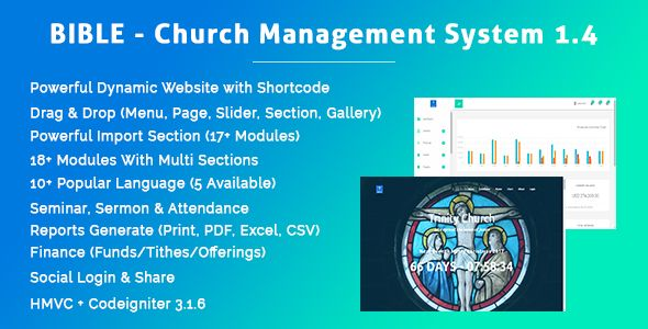 Bible - Church Management System With Shop, Donation, Sermon, Blog