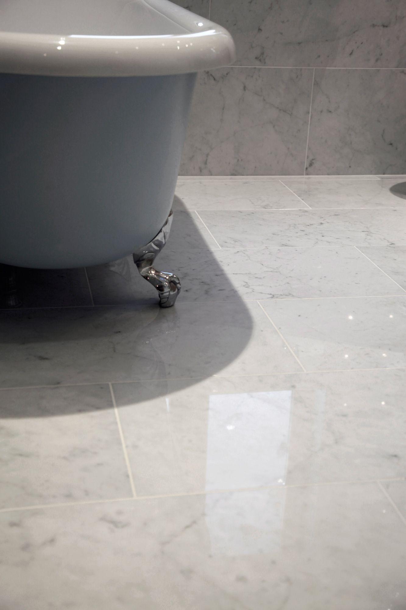carrara marble tile bathroom photos | Carrara Marble Floor Tile ...