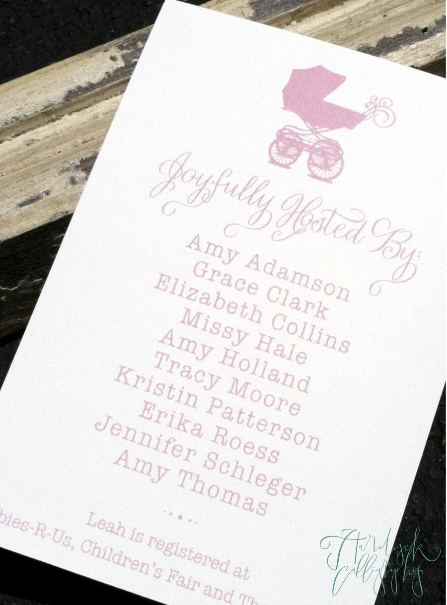 Hardink Calligraphy Host Card for Baby