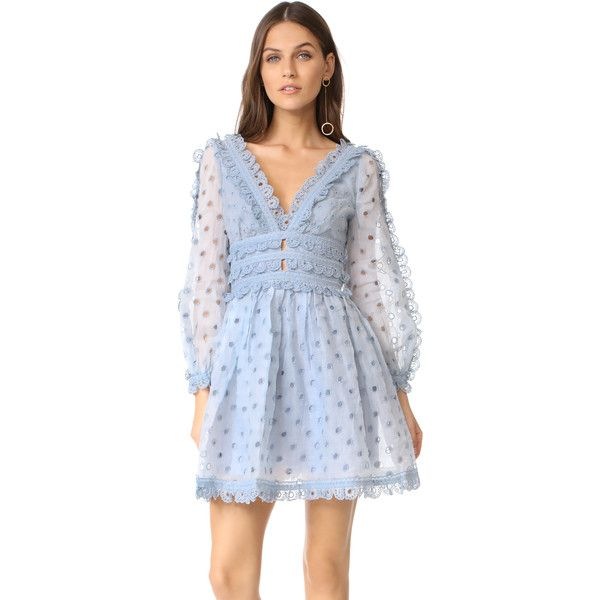 Zimmermann Winsome Tea Dress (795 CAD) ❤ liked on Polyvore featuring  dresses, sky