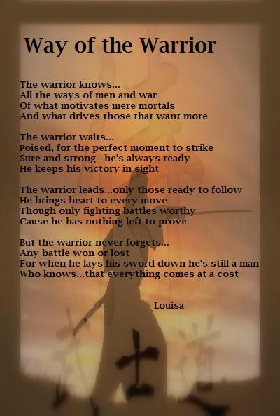 Poem Day Way Of The Warrior Fitness Inspiration Pinterest