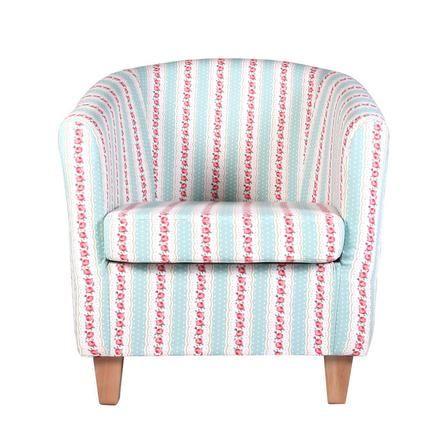 Chloe Stripe Autumn Tub Chair Dunelm Tub Chair Chair Bedroom Furniture