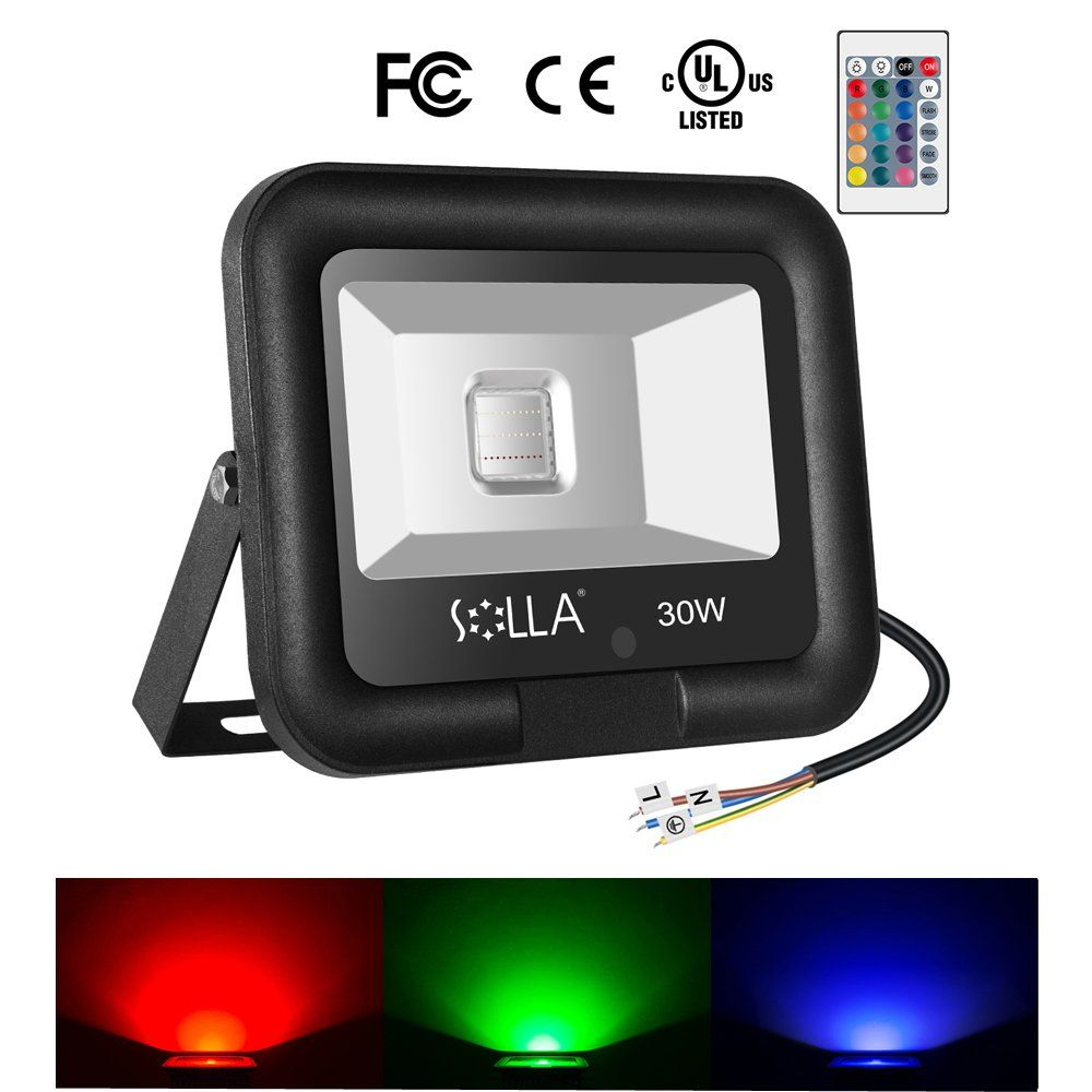Solla 30w rgb led flood light outdoor color changing lights with solla 30w rgb led flood light outdoor color changing lights with remote control led workwithnaturefo
