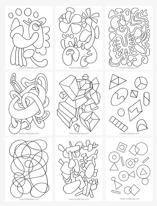 Abstract Coloring Pages - Mr Printables | coloring | Pinterest