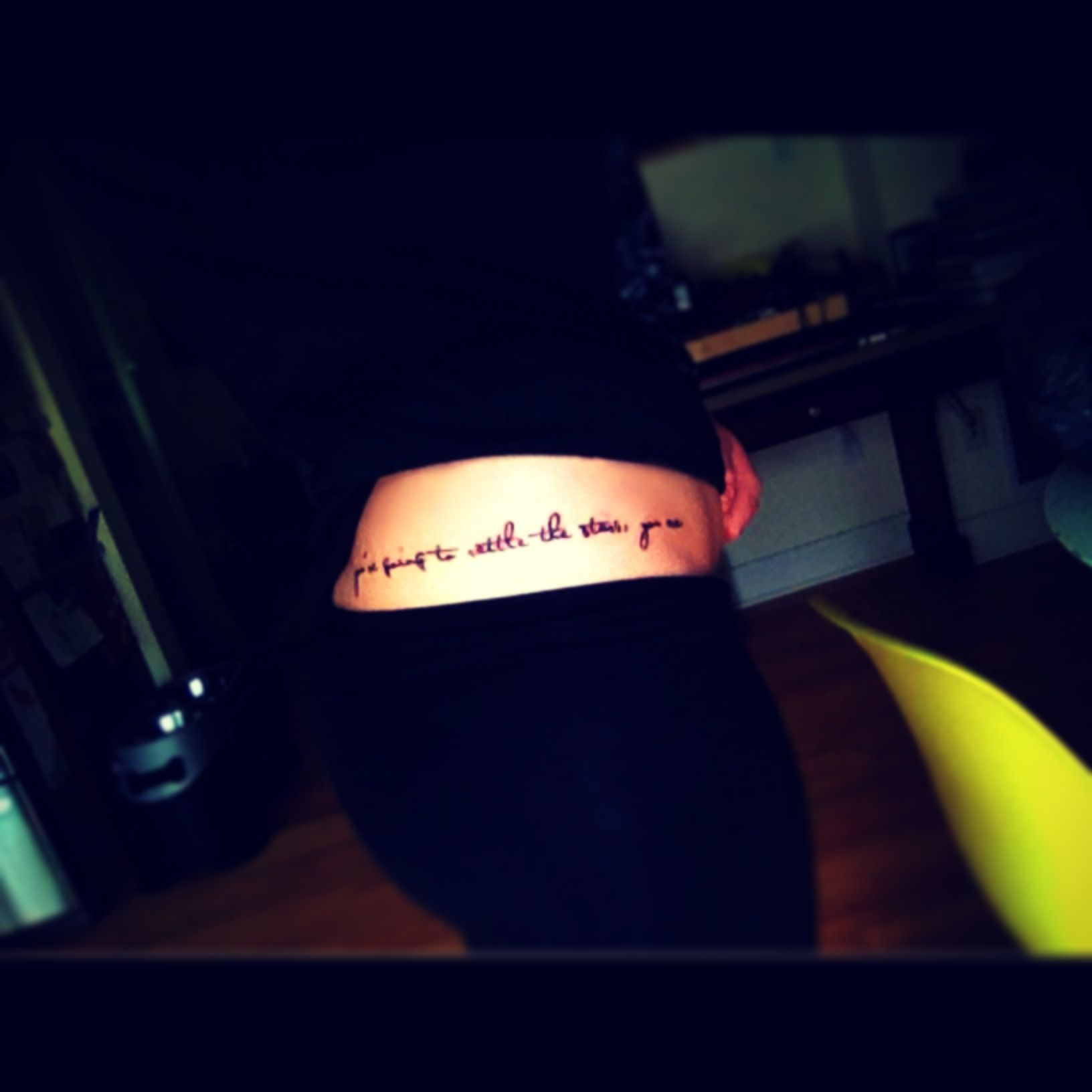 you're going to rattle the stars you are. my new tattoo <3