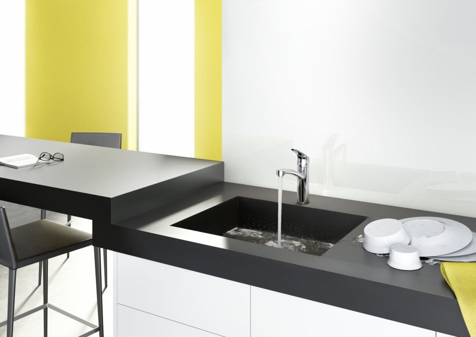 Kitchen Sink Ambiance With Hansgrohe Decor 160 Kitchen Mixer
