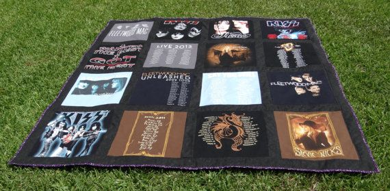 Tee Shirt Quilt with your 16 T shirts such as by sunshineofautumn, $160.00