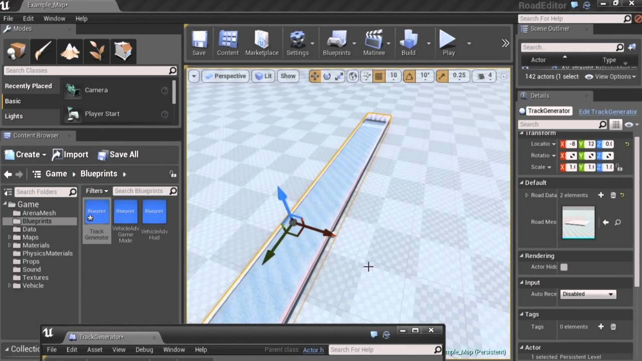 Unreal Engine 4 Training Twitch: Splines and Spline