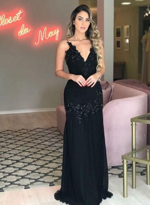 Vestido preto curto para casamento 2018