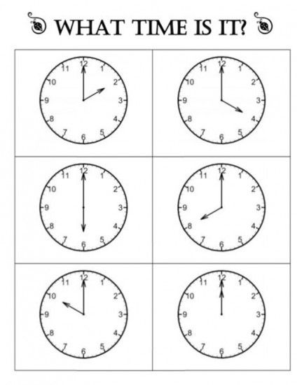 Quick Telling Time To The Hour Resources  Telling Time