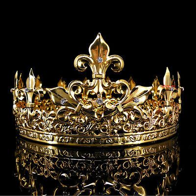 Mens imperial medieval fleur de lis gold king crown 85cm high 18cm mens imperial medieval fleur de lis gold king crown 85cm high 18cm diameter thecheapjerseys Choice Image