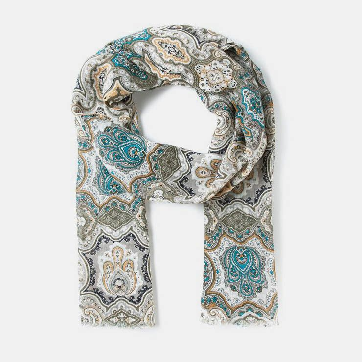 Linen printed scarf from Etro