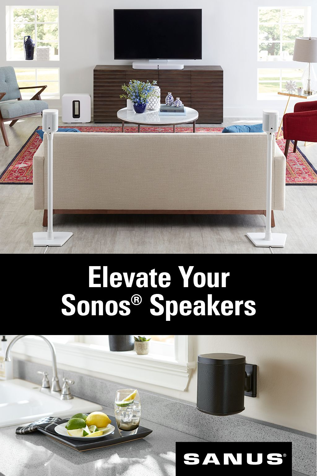 Smart speakers smart placement Mounts and stands
