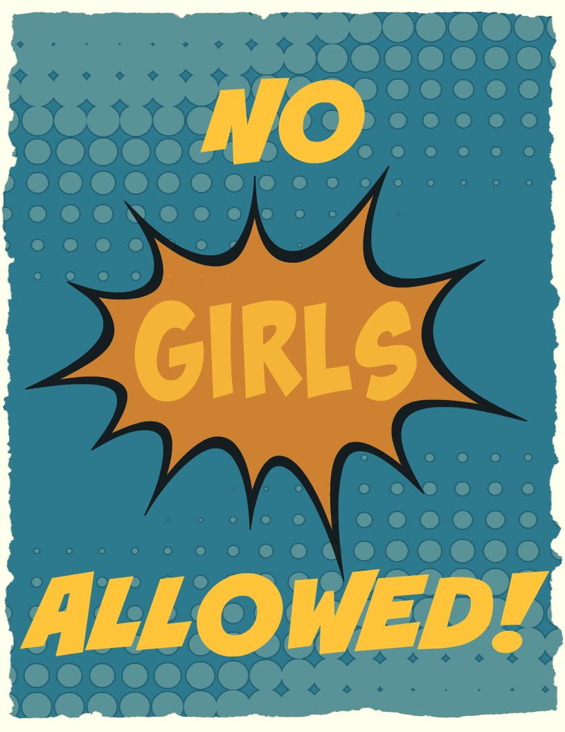 no girls allowed printable poster | crafts for boys | pinterest