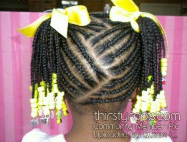 Lil Girl Hair Braiding Styles: Little Girls Scalp Braids