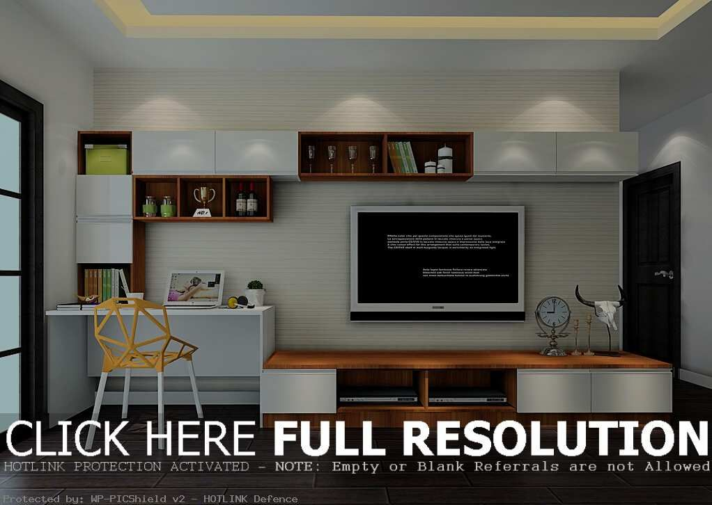 Keep Your Room Neat By Having A Computer Desk Tv Stand Combo