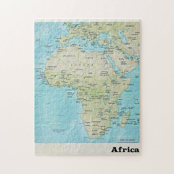 Africa Geography Map: A Jigsaw Puzzle   Zazzle.com ...