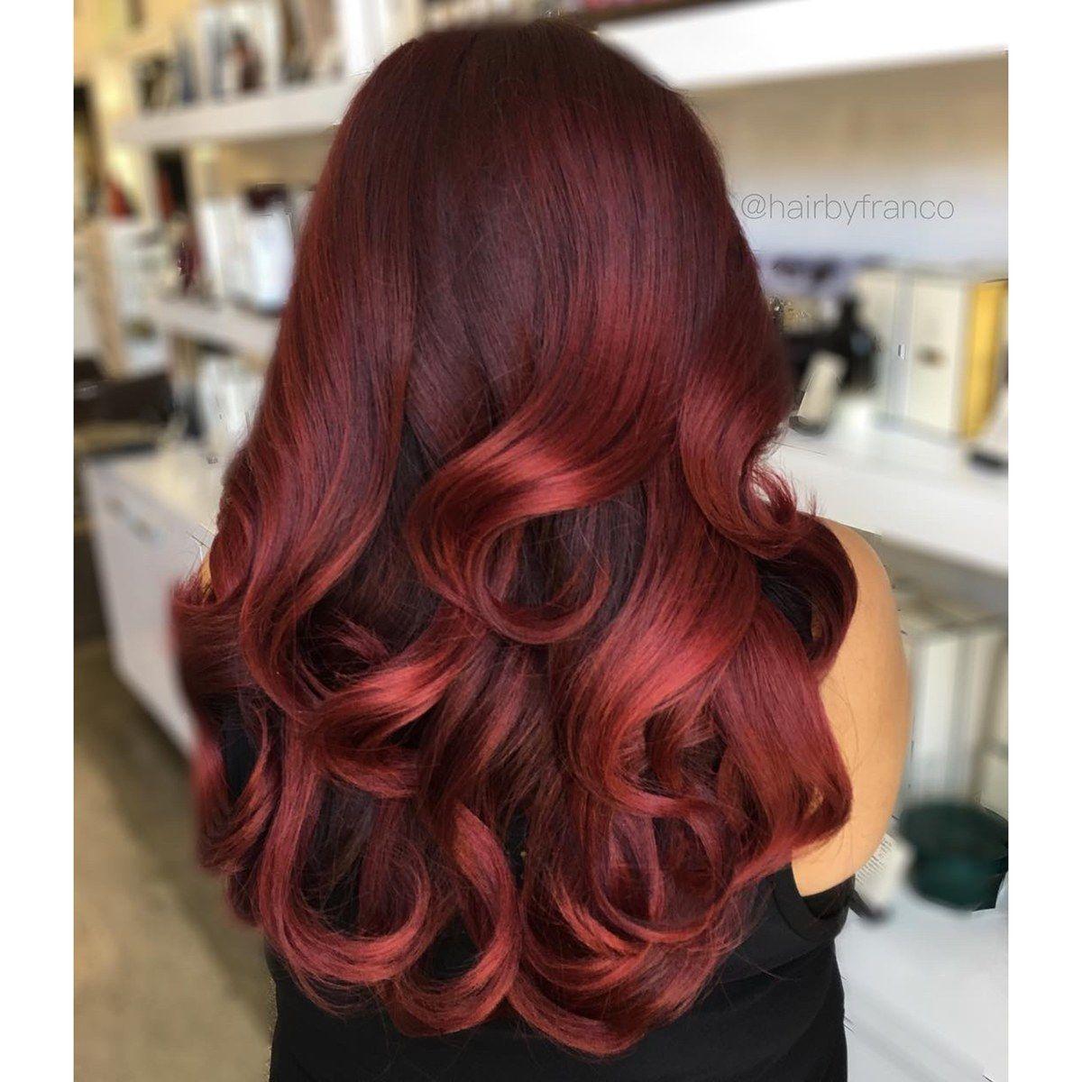 Maroon With A Subtle Faded Balayage Hair Color Burgundy Cinnamon Hair Burgundy Hair