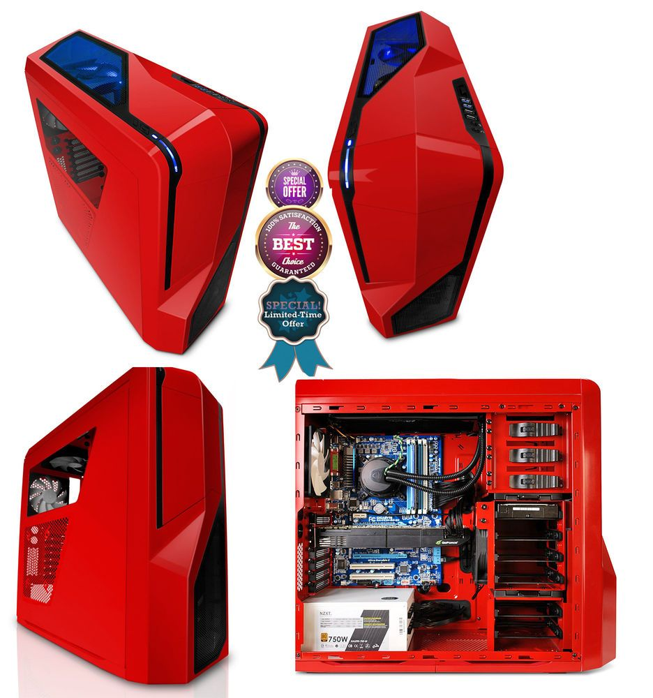 Red And Black Mid Tower Computer Case Phantom 410 Front Panel Fast Free Shipping Computer Tower Computer Case Case