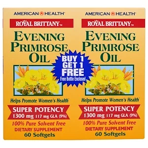 American Health Royal Brittany Evening Primrose Oil 1300 Mg 2 Bottles 60 Softgels Each In 2020 American Health Evening Primrose Oil Primrose Oil
