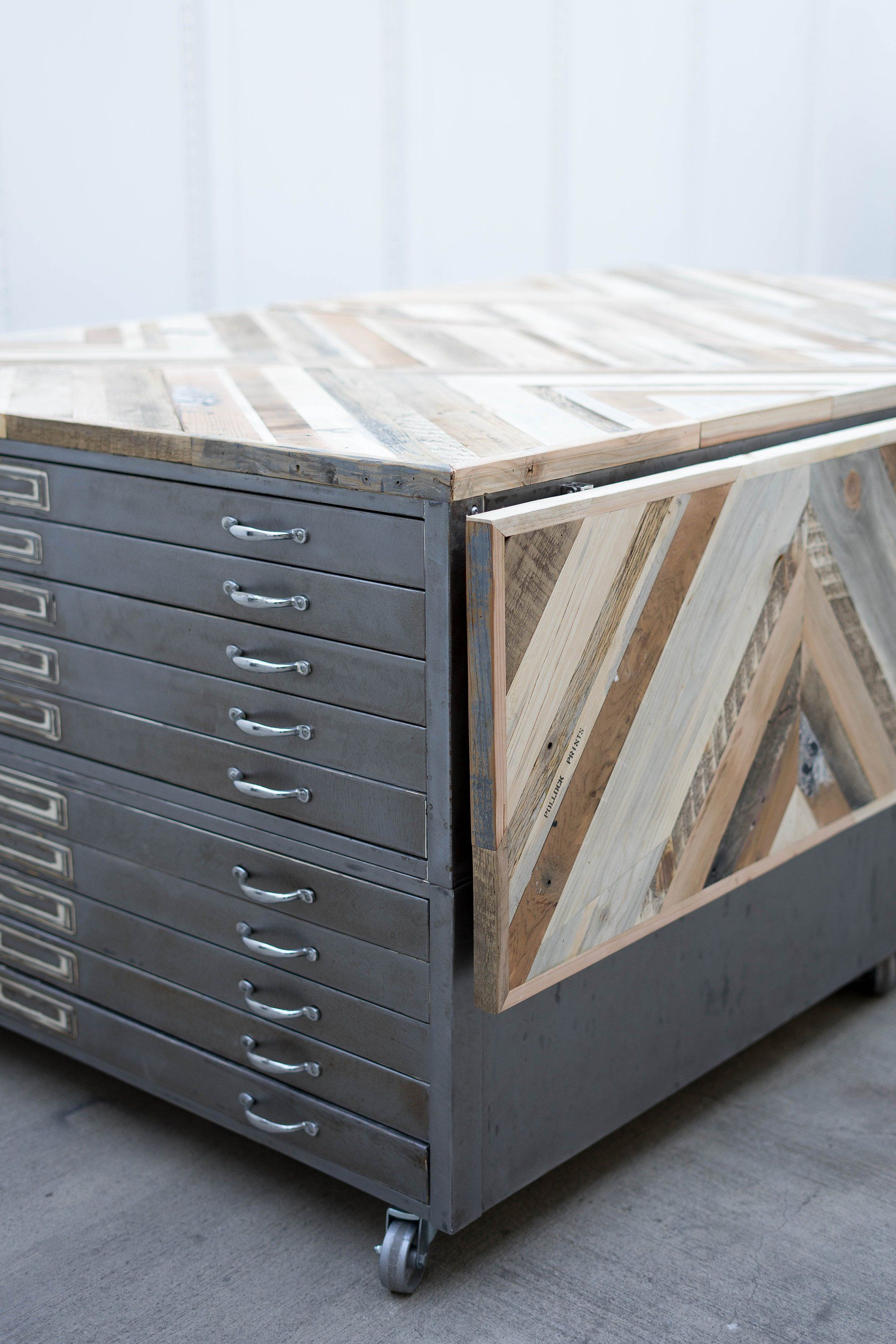 Flat File Coffee Table Industrial Coffee Table Chevron Coffee Table Flat Files Chevron Coffee Tables Diy Furniture Projects [ 3000 x 2000 Pixel ]