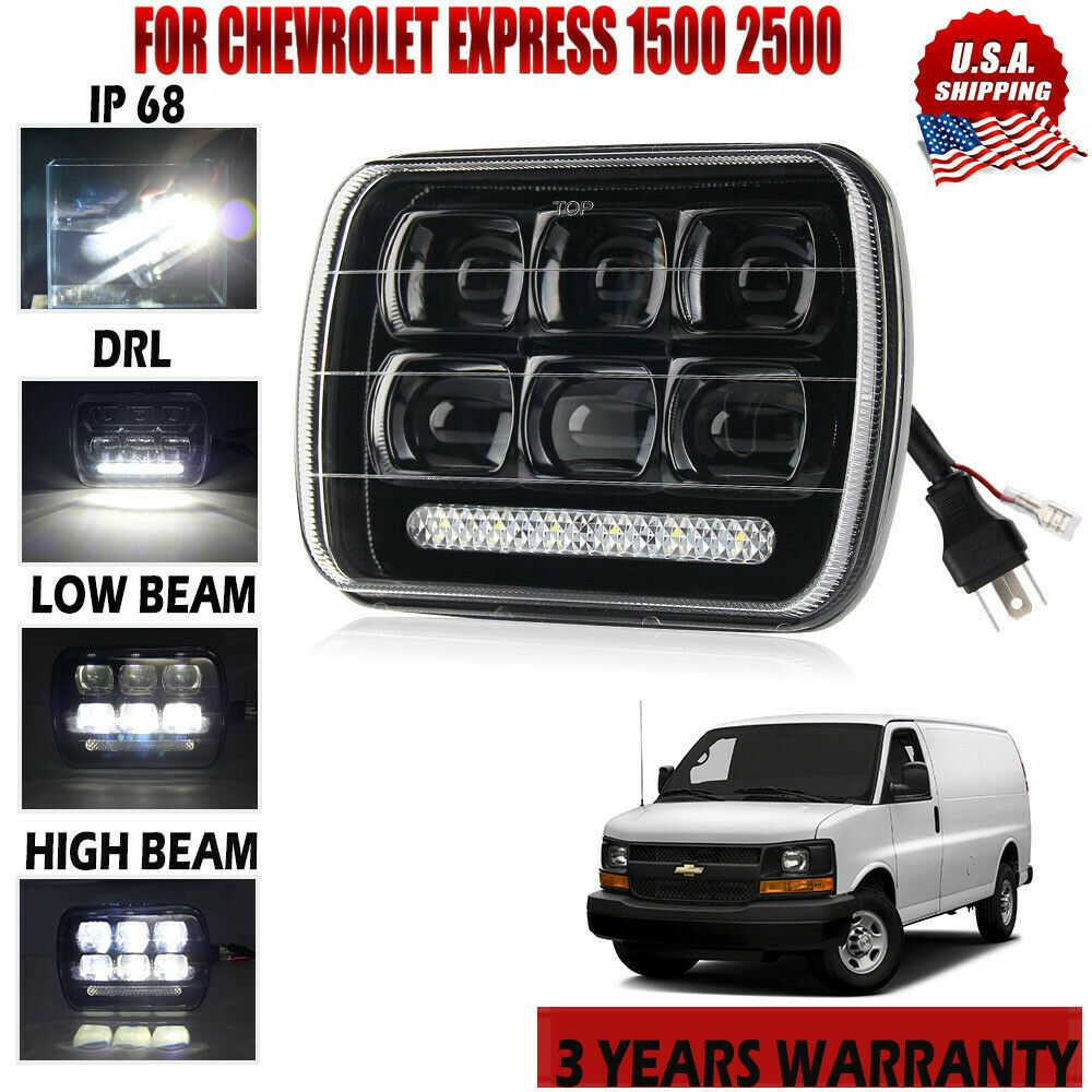 Sponsored Ebay 7 X6 Led Headlight Headlamp For Chevy Express