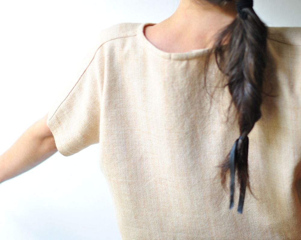 voices of industry / sally fox - shirt 2:  biodynamic organic  natural cotton / hand-woven cloth