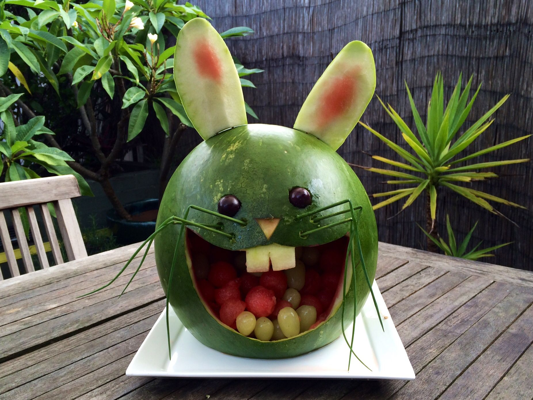 Watermelon carving easter pinterest