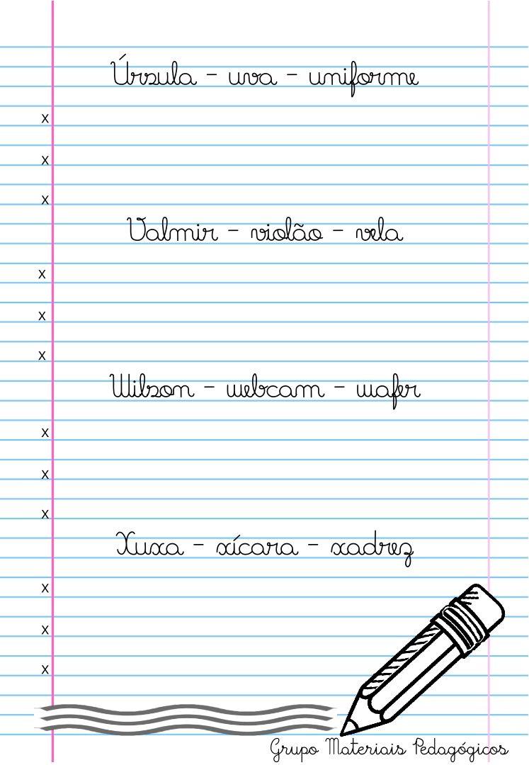Caligrafia Palavras E Frases Com Imagens Atividades