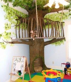 Image Result For Indoor Corner Fake Tree Indoor Tree House Tree House Kids Indoor Trees