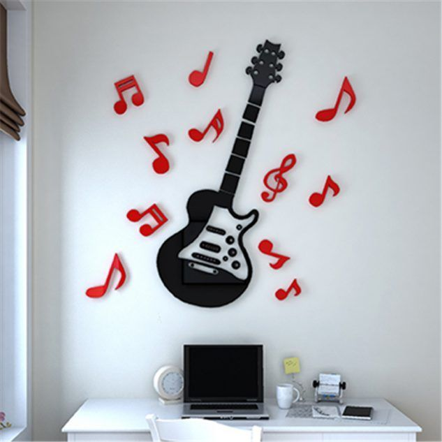 15 3d Wall Stickers Idea That Will Add Color And Fashion In The House Top Music Wall Stickers Music Classroom Decor Kids Music Room