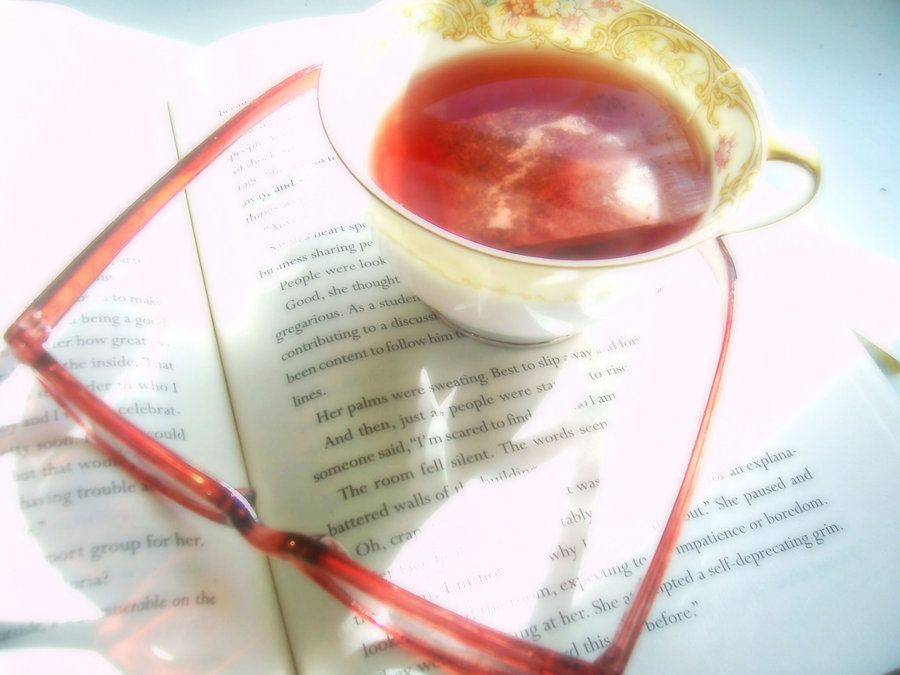 """Go to DeviantART to purchase this print by meljoy68 titled """"A Cup of Tea and A Good Book"""""""