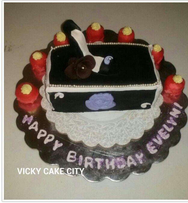 Shoe Cake Fondant Work Happy Birthday Vicky Cake City Cake 2014