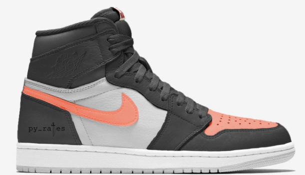 Air Jordan 1 Retro High OG Neutral Grey Hyper Crimson White Black ... ec064165a